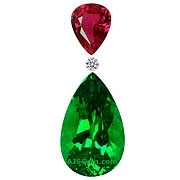 Tsavorite Garnet and Burma Ruby Set  - 2.78 carats