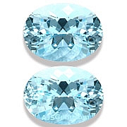 Matched Pair Aquamarine - 14.42 carats