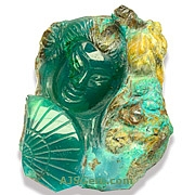 Carved Chrysoprase- 737.50 carats