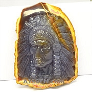 Carved American Indian Opal - 912 carats
