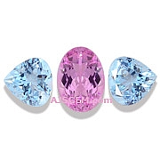 Pink Imperial Topaz and Aquamarine