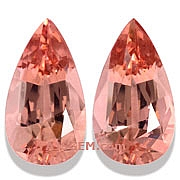 Matched Pair Morganite - 21.29 carats