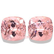 Morganite Matched Pair - 13.25 carats