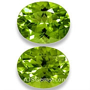 Matched Pair Peridot - 4 .72 carats