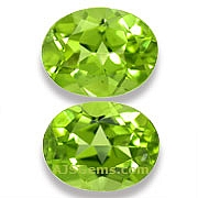 Matched Pair Peridot - 4 .30 carats