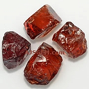 Red Zircon Rough - 50+ carats