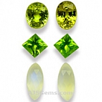 Peridot - Mali Garnet and Moonstone Set - 13.21 carats