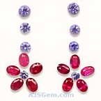 Ruby and Tanzanite Set - 4.43 carats