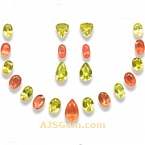 Garnet and Sunstone Set - 23.58carats