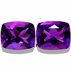 Amethyst Matched Pair - 9.89 carats