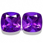Amethyst Matched Pair - 12.60 carats