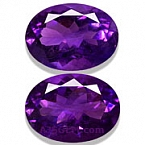 Amethyst Matched Pair - 14.28 carats