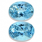 Aquamarine Matched Pair - 9.62 carats