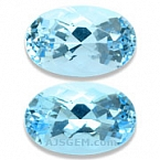 Aquamarine Matched Pair - 3.36 carats