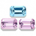 Aquamarine And Pink Topaz Set - 1.92 carats