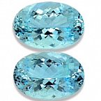 Matched Pair Aquamarine - 26.88 carats