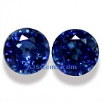 Matched Pair Blue Sapphire - 0.32 carats