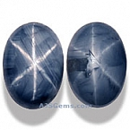 Unheated Blue Star Sapphire Matched Pair - 3.37 carats