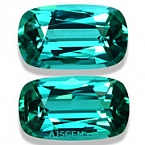 Vibrant Blue Tourmaline Matched Pair - 3.47 carats