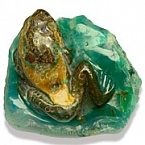Carved Chrysoprase- 600.00 carats