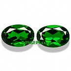 Chrome Diopside Matched Pair - 3.38 carats