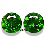 Chrome Diopside Matched Pair - 3.08 carats