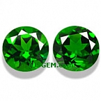 Chrome Diopside Matched Pair - 1.75 carats