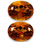 Matched Pair Citrine - 16.66 carats