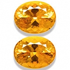 Matched Pair Madeira Citrine - 16.56 carats