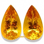 Matched Pair Madeira Citrine - 35.60 carats