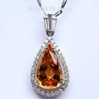 Imperial Topaz Pendant 5.26 carats