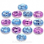 Pink Topaz and Aquamarine Set - 11.80 carats