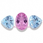 Pink Topaz and Aquamarine Set - 5.08 carats