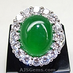 Jade Platinum Ring - 8.01 carats