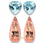 Morganite and Aquamarine Suite - 10.73 carats