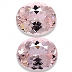Matched Pair Morganite - 7.60 carats