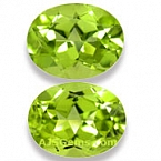 Matched Pair Peridot - 4 .42 carats