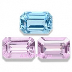 Pink Topaz and Aquamarine Set - 1.93 carats