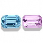 Pink Topaz and Aquamarine Pair - 1.22 carats