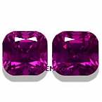 Matched Pair Purple Garnet - 3.54 carats