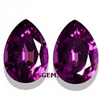 Purple Garnet Matched Pair - 1.68 carats