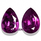 Royal Purple Garnet Matched Pair - 1.58 carats