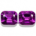 Royal Purple Garnet Matched Pair - 3.11 carats