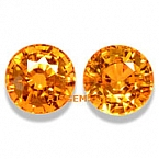 Mandarin Spessartite Garnet Matched Pair - 2.84 carat