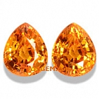 Mandarin Spessartite Garnet Matched Pair - 4.09 carat