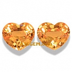 Mandarin Spessartite Garnet Matched Pair - 1.55 carat