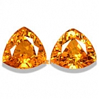 Mandarin Spessartite Garnet Matched Pair - 2.60 carat