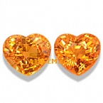 Mandarin Spessartite Garnet Matched Pair - 2.38 carat