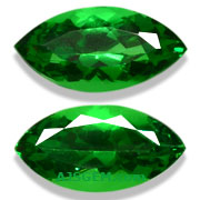 2.37 ct Matched Pair of Tsavorite Garnets from East Africa