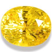 14.60 ct Unheated Yellow Sapphire, Sri Lanka